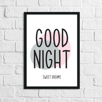 Goodnight Sweet Dreams 2 Children's Teenager Room Wall Decor Print