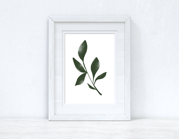 Green Watercolour Leaf 3 Bedroom Home Wall Decor Print