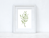 Greens Watercolour Leaves 3 Bedroom Home Wall Decor Print