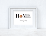HOME Pumpkin Family Surname Colour Halloween Autumn Seasonal Wall Home Decor Print