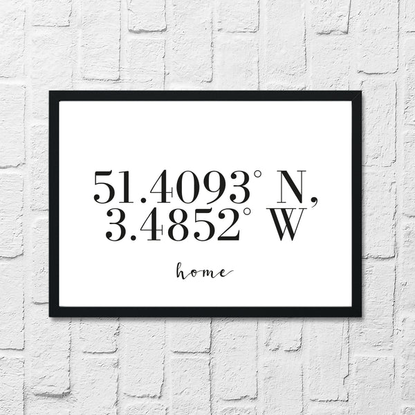 Home Coordinates Home Simple Wall Decor Print