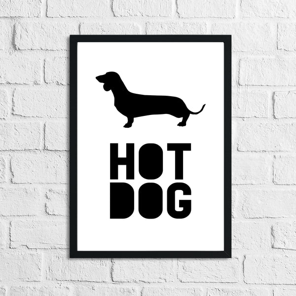 Sausage Dog Dachshund Lover Hot Dog Animal Wall Decor Simple Print