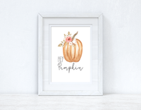 Hey Pumpkin Autumn Seasonal Wall Home Decor Print