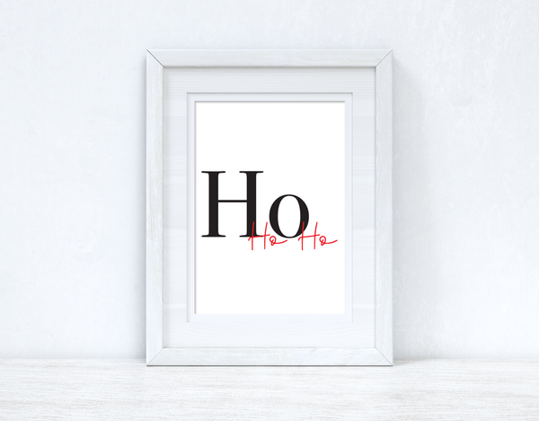 Ho Ho Ho Christmas Seasonal Wall Home Decor Print