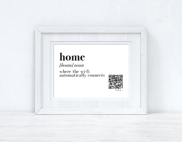 Home Wifi Definition Wifi QR Scan Home Wall Decor Print
