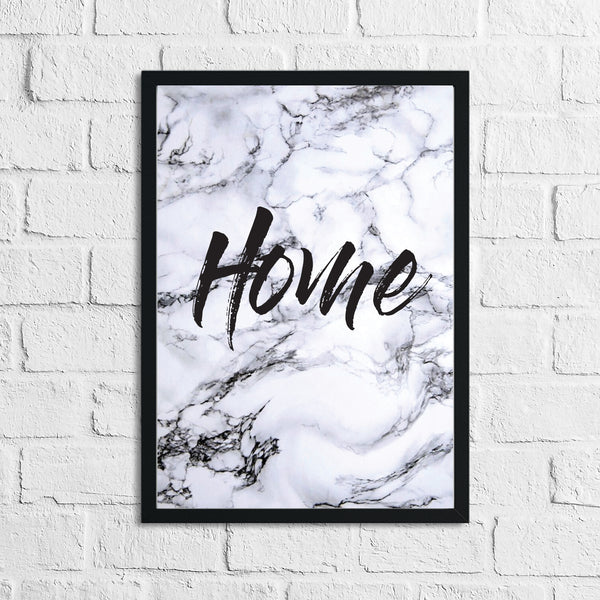 Home Dark Marble Background Simple Home Wall Decor Print