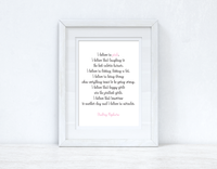 I Believe In Pink Inspirational Simple Wall Home Decor Print