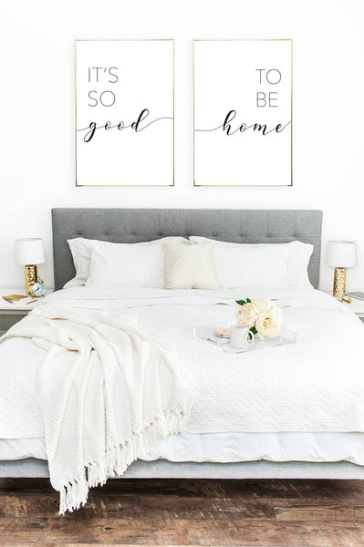 It's So Good To Be Home Bedroom Living Room Hallway Set Of 2 Prints