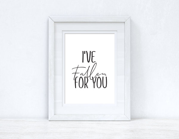 I've Fallen For You Autumn Seasonal Wall Home Decor Print
