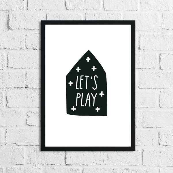 Scandinavian Let's Play Children's Nursery Bedroom Wall Decor Print
