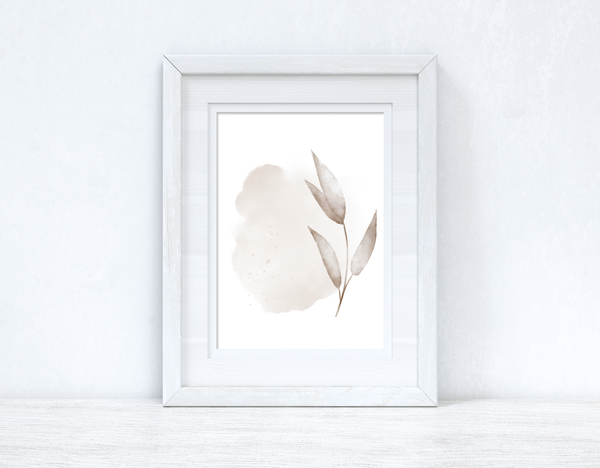 Natural Watercolour Leaves 4 Bedroom Home Wall Decor Print