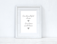 Our beautiful Chaos & Sweet Home Heart Simple Home Wall Decor Print