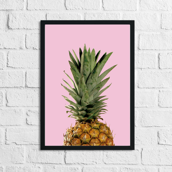 Half Pineapple Pink Photography Room Simple Wall Decor Print