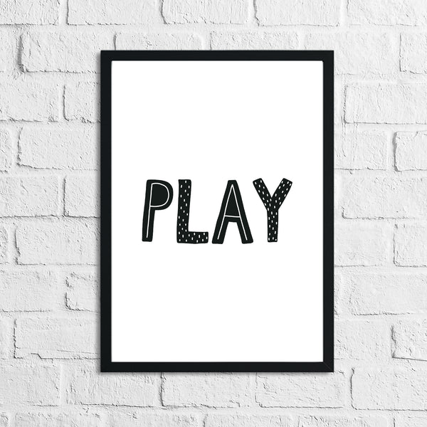 Scandinavian Play Children's Nursery Bedroom Wall Decor Print