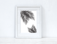 Palm Leaves Black Home Simple Home Wall Decor Print