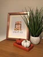 Pumpkin Farm Ahead Autumn Seasonal Wall Home Decor Print