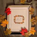 Autumn At The (Surname) Autumn Seasonal Wall Home Decor Print