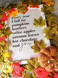 Every Year I Fall For Autumn Seasonal Wall Home Decor Print