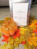 Autumn Leaves And Pumpkins Please Portrait Autumn Seasonal Wall Home Decor Print