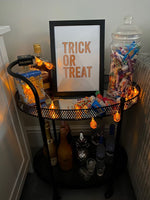 Trick Or Treat Autumn Halloween Seasonal Wall Home Decor Print