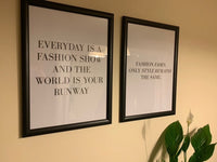 Every Day Is A Fashion Show And The World Is Your Runway Dressing Room Simple Wall Home Decor Print