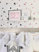 Assorted Shapes Wall Stickers Decal Bedroom Kids Nursery Dressing Room Home Decor Decal *Excludes Rose Gold & Chromes & Glitter Colours* PLEASE ENTER COLOUR/SHAPE REQUIRED INTO CUSTOMISATION BOX WHERE NEEDED!