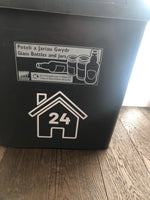 Wheelie Bin Caddy Recycle Home Decor House Number Sticker Label