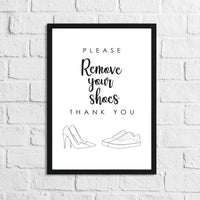 Please Remove Your Shoes Simple Home Wall Decor Print