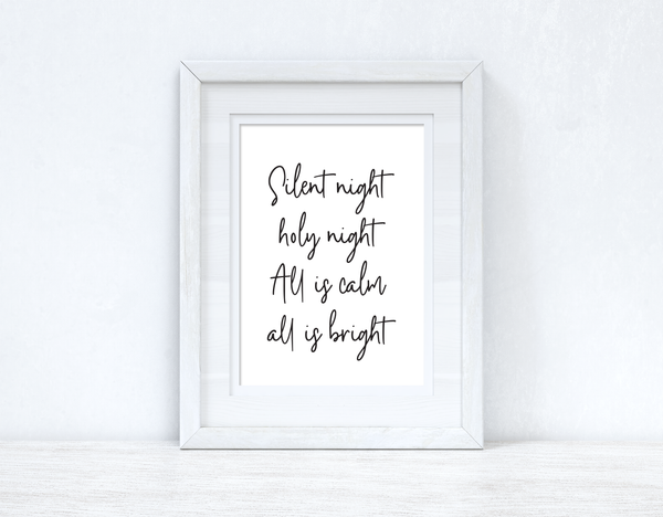Silent Night Christmas Seasonal Wall Home Decor Print