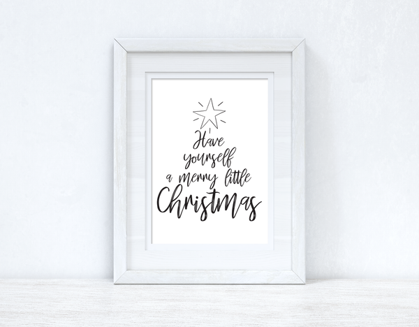 Star Have Yourself A Merry Christmas Seasonal Wall Home Decor Print