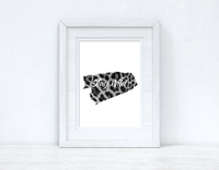 Stay Wild Animal Tiger Print Dressing Room Simple Wall Decor Print