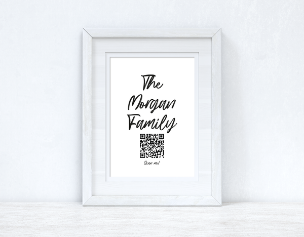 "The ""Surname"" Family Wifi QR Scan Home Wall Decor Print"