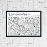 When We Met Personalised Date Any Place Country City Wall Decor Print
