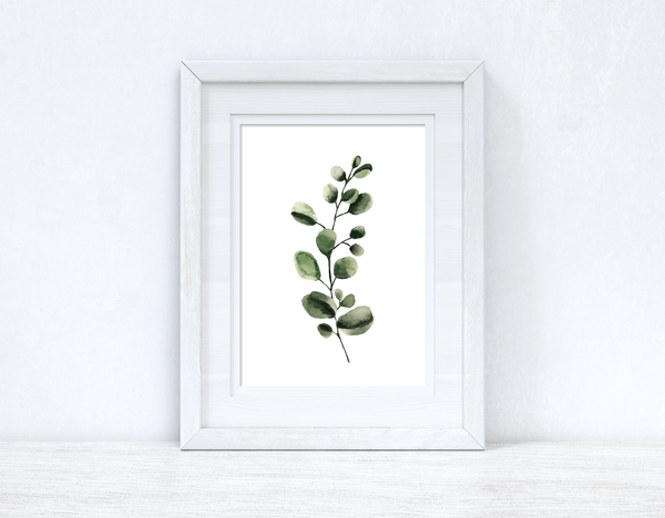 Watercolour Greenery Leaf 3 Bedroom Home Kitchen Living Room Wall Decor Print