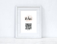 Wifi Rose Gold Pink Splatter Scan Me! Wifi QR Scan Home Wall Decor Print