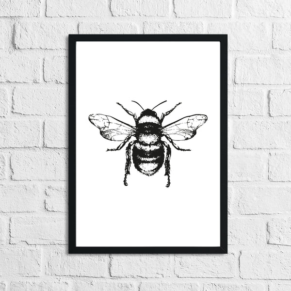 Bumble Bee Cute Simple Home Wall Decor Print