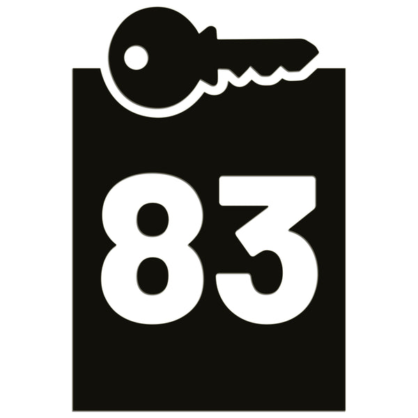 Wheelie Bin Caddy Recycle Home Decor Key House Number Sticker Label
