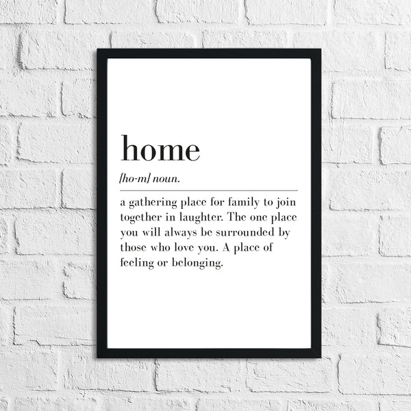 Home Definition Simple Home Wall Decor Print