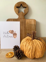 Hello Autumn Acorn Autumn Seasonal Wall Home Decor Print