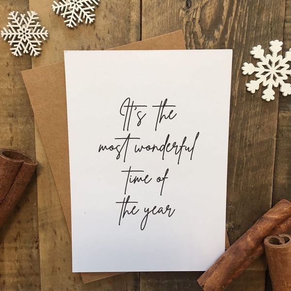 It's The Most Wonderful Time Of The Year Christmas Seasonal Wall Home Decor Print