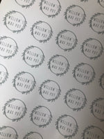Personalised 37mm Stickers Business Company Name Round Circle Labels Custom Logo