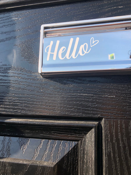 Hello Heart Letter Box Door Decor House Sticker Label - INTRO OFFER