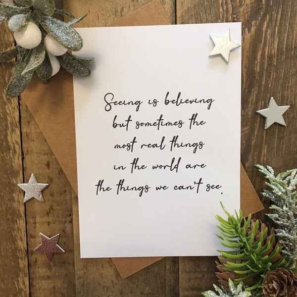 Seeing Is Believing Christmas Seasonal Wall Home Decor Print