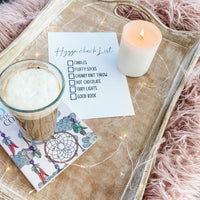 Hygge Check List Candle Simple Wall Humorous Home Decor Print