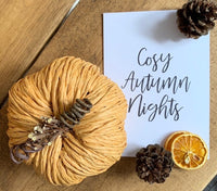 Cosy Autumn Nights Autumn Seasonal Wall Home Decor Print