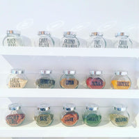 Custom Lauren Font Spice Jar Label Stickers