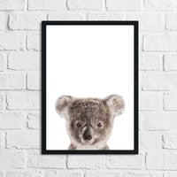 Koala Colour Animal Nursery Children's Room Wall Decor Print