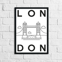 London Landmark Children's Room Wall Decor Print