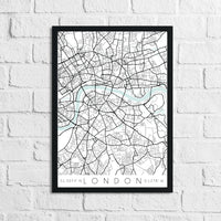 Personalised Colour Any Place Country City Print With Coordinates Wall Decor Print