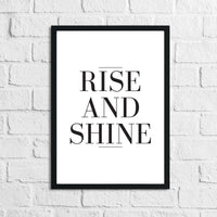 Rise And Shine Bedroom Simple Decor Print